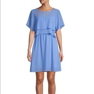 Brand New Vero Moda Short Dress Tiered Blue sz L
